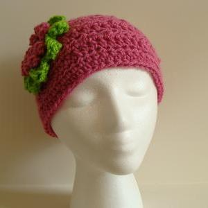 Crochet Head Warmer Hot pink and li..