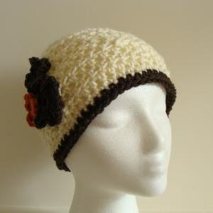 Crochet Head Warmer Rust, Cream and..