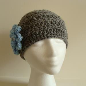 Crochet Head Warmer Charcoal and Sk..