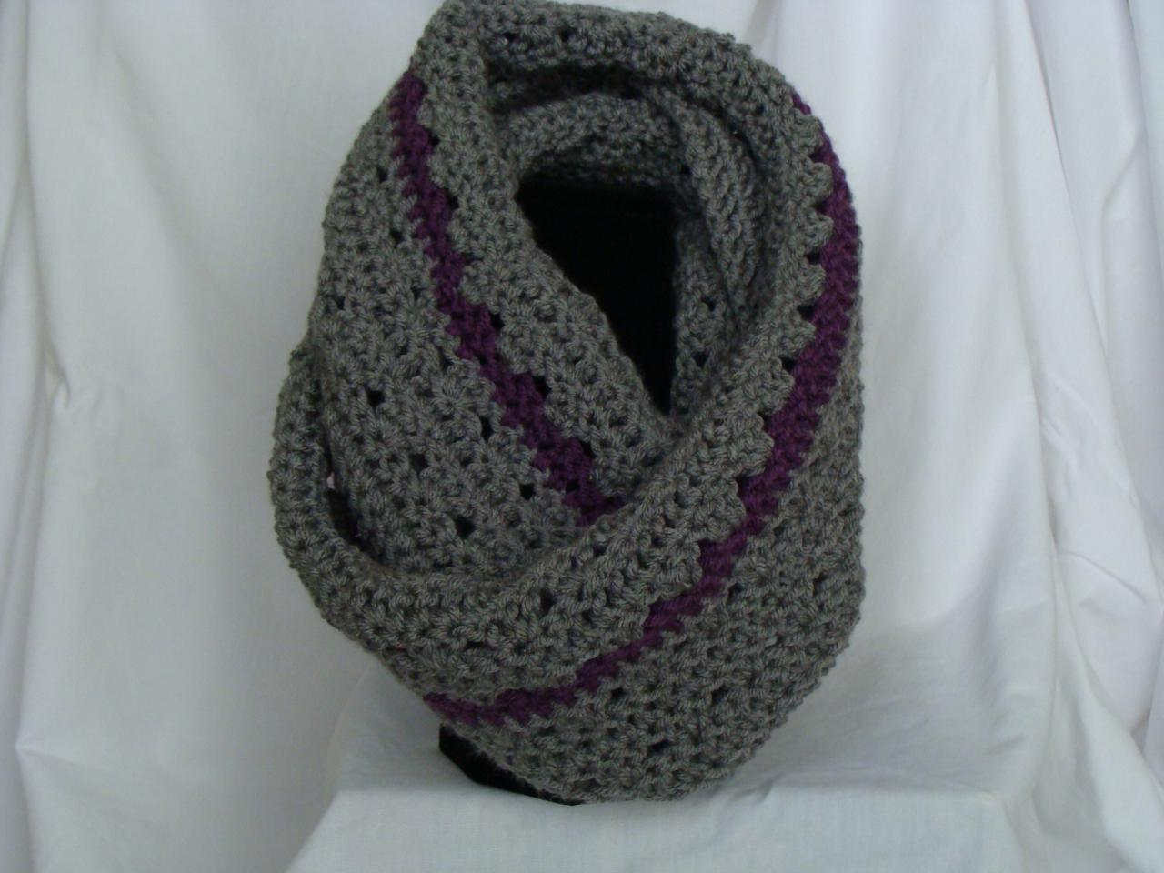 When you wear this Infinity scarf you will be so cozy warm I created  Easy Crochet Infinity Scarf